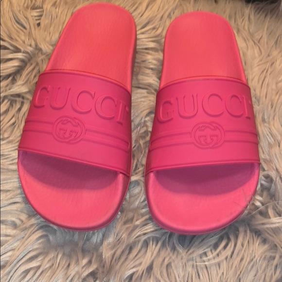 f13fae47ede3 Gucci Shoes - pink AUTHENTIC gucci flip flops